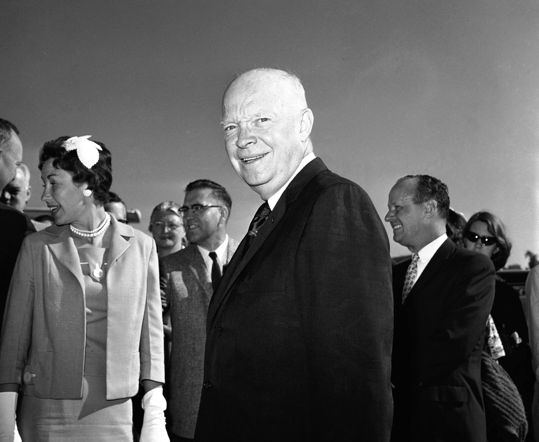 Le président Dwight David Eisenhower, surnommé « Ike », en juin 1960.