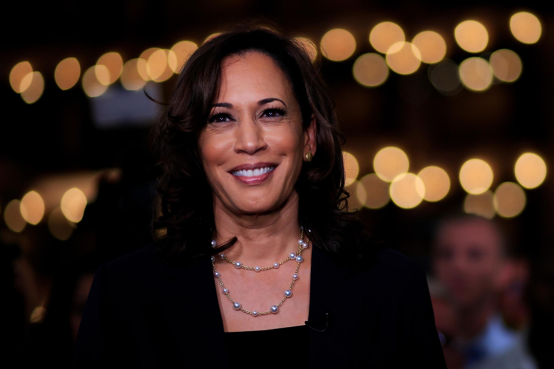 Kamala Harris, thượng nghị sĩ bang California, trong cuộc tranh luận tối 27/06/2019 giữa các ứng viên Dân Chủ tại Miami, bang Florida.