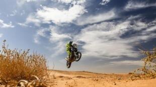 Imagen del rally Dakar en territorio sudamericano.