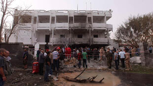 Après l'attaque de l'ambassade de France à Tripoli en Libye, le 23 avril 2013.