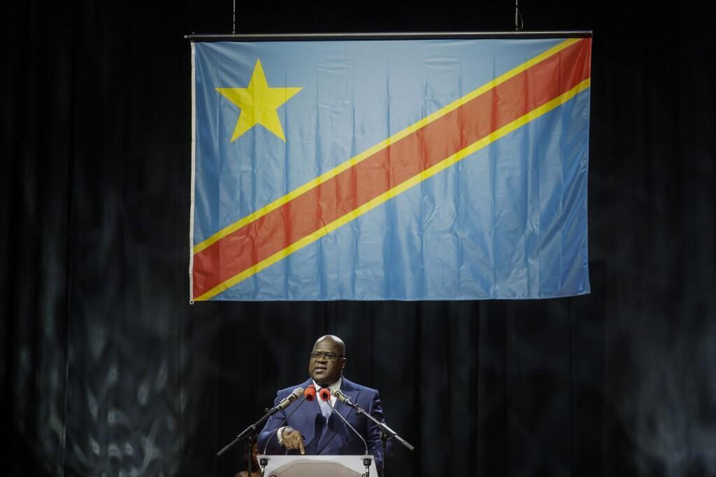Felix Tshisekedi akizungumza na raia wa DRC waishio katika nchi za kigeni, Septemba 18, Brussels.