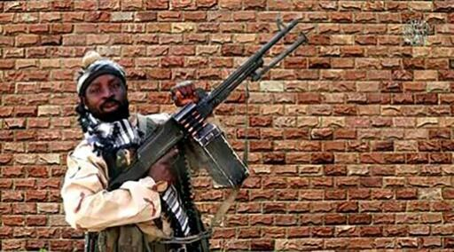 Firebrand Boko Haram faction leader Abubakar Shekau (pictured January 2018) said his fighters were responsible for a raid on the Nigerian military in a village near the Cameroon border
