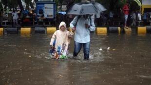 Bombay sous la pluie, le 28 juin 2019