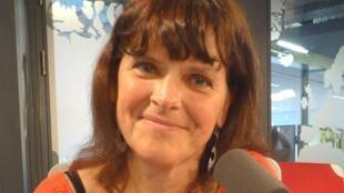 Cristina L'Homme en los estudios de RFI