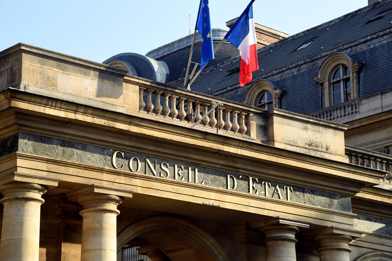 L'entrée du Conseil d'Etat, à Paris le 18 octobre 2018
