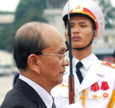 O novo presidente de Mianmar, Then Sein. As ONGs condenaram nesta sexta-feira a violência contra as crianças no país,