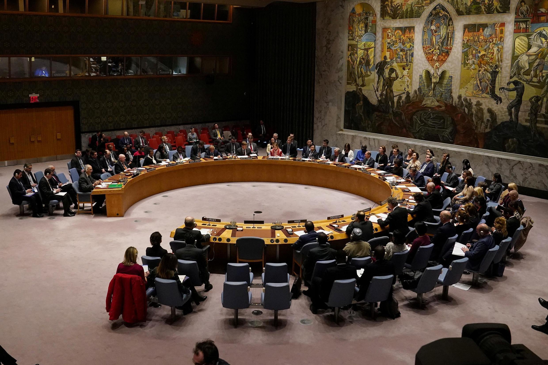 联合国安理会将于2020年2月28日在纽约总部举行。Baraza la Usalama la Umoja wa Mataifa lakuna kwenye makao makuu ya baraza hilo huko New York, Februari 28, 2020.