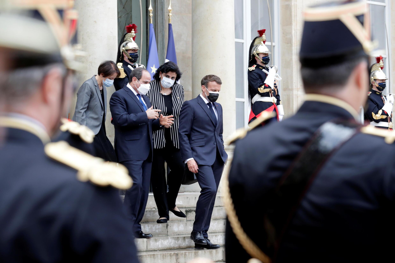Президенты Франции и Египта в Елисейском дворце 17 мая 2021.
