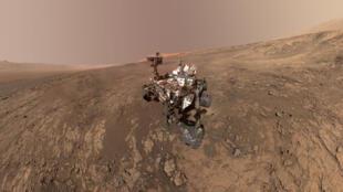 Xe tự hành Curiosity Mars của NASA trên sao Hỏa. Ảnh chụp ngày 23/01/2018.