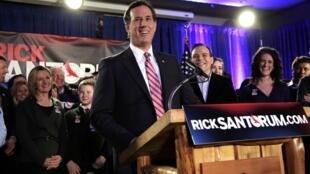 Ông Rich Santorum, tại tiểu bang Iowa, tối ngày 03/01/2012