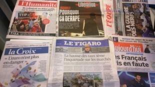 Diários franceses 11/06/2015