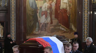 Funeral de Andreï Karlov na Catedral do Cristo Salvador