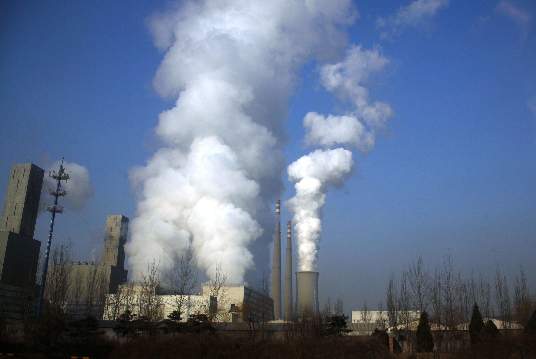 Une centrale de charbon.