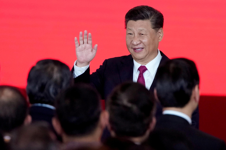 圖為中國國家主席習近平出席珠海澳珠港大橋通車儀式