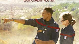 L'affiche du film de Pierre Jolivet «Les hommes du feu» avec Roschdy Zem et Emilie Dequenne.