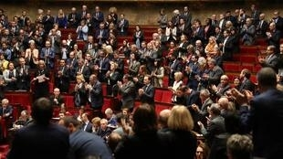 نمایندگان مجلس ملی فرانسه در جلسۀ علنی این مجلس