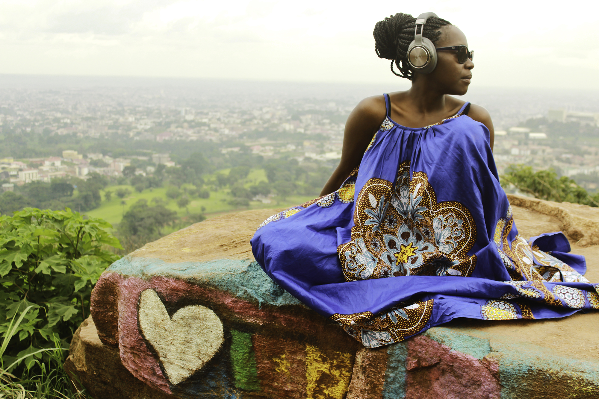 Valérie Ekoumè in Cameroon where she spent part of her childhood