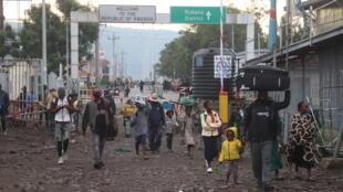 Congo RDC - Goma - volcan eruption - Nyiragongo