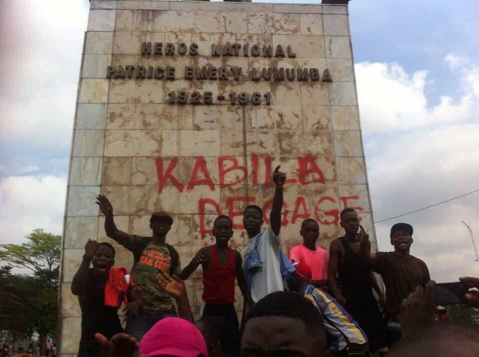 A Limete, à Kinshasa, des milliers de personnes se sont réunies autour de l'échangeur et la place Lumumba, RDC, ce lundi 19 septembre 2016.