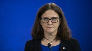 Cecilia Malmstrom, babbar jami'ar lura da sha'anin kasuwancin kungiyar kasashen Turai EU.