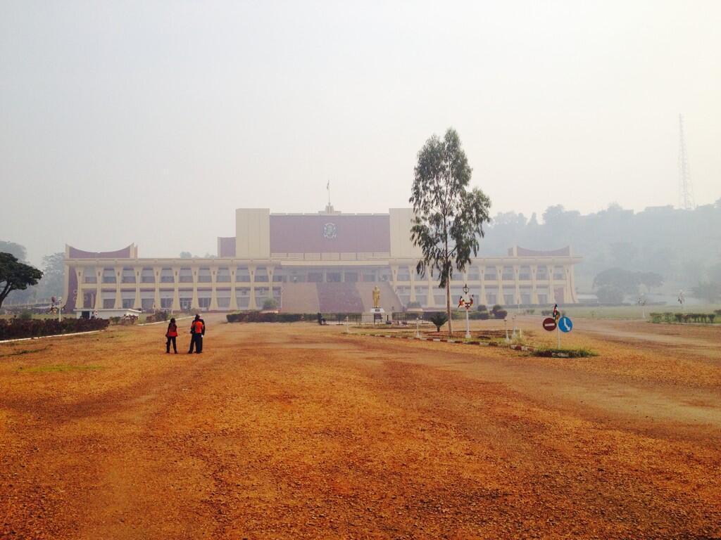 Le Parlement à Bangui.