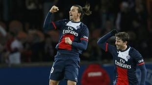 Dan wasan PSG  Zlatan Ibrahimovic