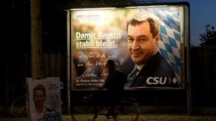 No poder na Baviera desde o fim da Segunda Guerra, o CSU poderá obter um de seus piores resultados nas eleições da Baviera