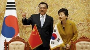 中国总理李克强和韩国总统朴槿惠