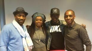 De gauche à droite : Passi, Déné Issébéré, Shado Chris et Claudy Siar.