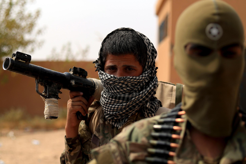 Des membres des Forces démocratiques syriennes (SDF) dans le village de Susah, dans la province de Deir Ezzor, dans l'est de la Syrie, septembre 2018 (illustration).