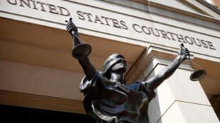 Trụ sở tòa án ở Alexandria, Virginia, Hoa Kỳ, nơi đang xét xử ông Paul Manafort. Ảnh chụp ngày 15/08/2018