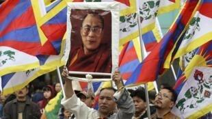 Biểu tình ủng hộ Tây Tạng tại Đài Bắc ngày 08/03/2015.