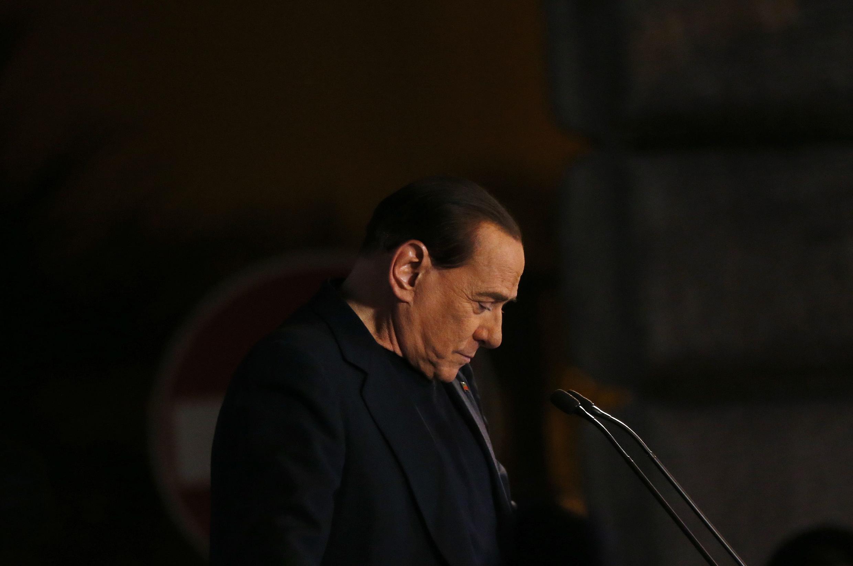 """Berlusconi dijo que era """"un día de duelo para el derecho y la democracia"""", este 27 de noviembre en Roma."""