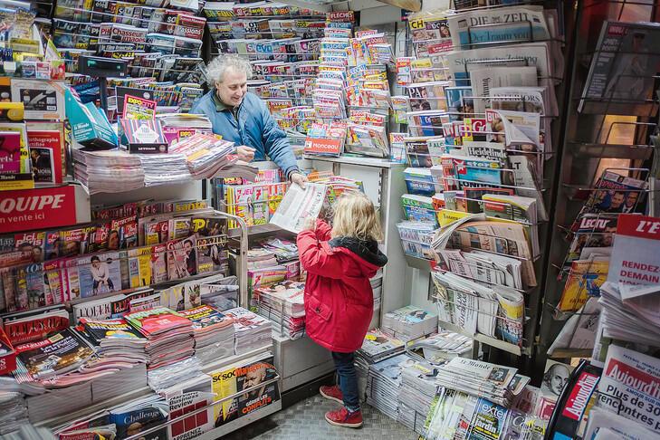 Một sạp báo tại Pháp - Ảnh minh họa.