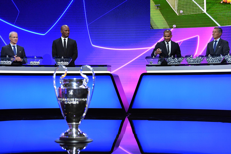Una imagen del sorteo de los grupos de la próxima Liga de Campeones, el 1 de octubre de 2020 en la ciudad suiza de Ginebra