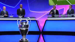 Sorteio da Liga dos Campeões europeus de futebol em Genebra na Suíça.