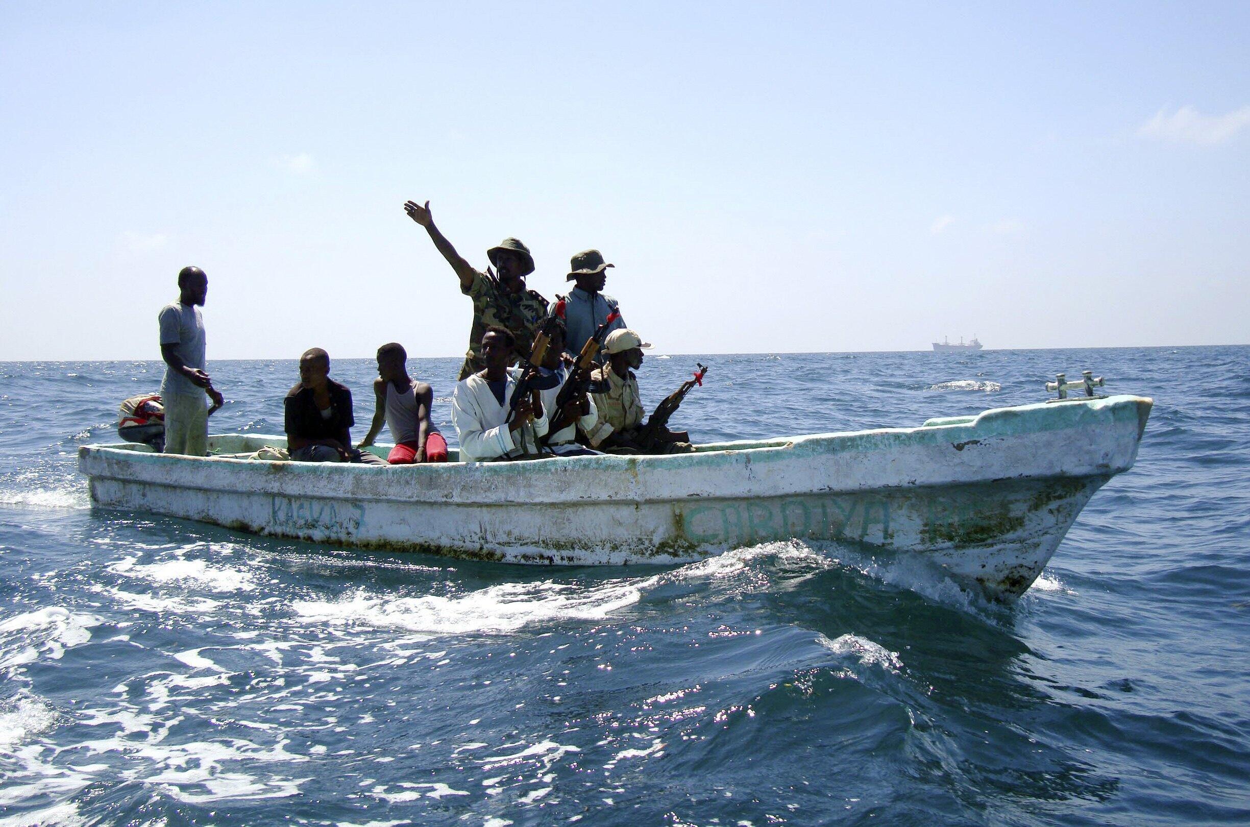 Des pirates somaliens dans le golf d'Aden.