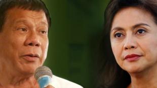 菲律宾总统杜特尔特与副总统罗布雷多资料图片