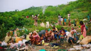 Refugiados em Bangladesh.
