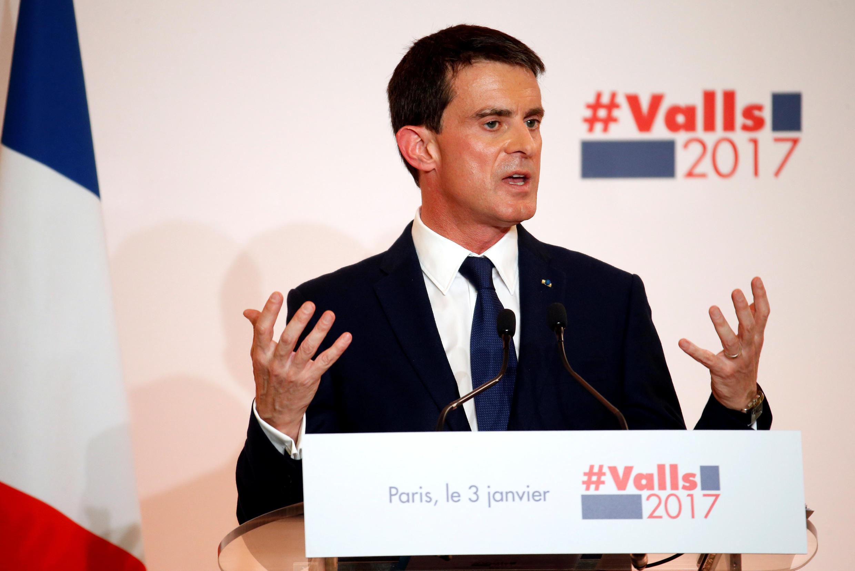 Manuel Valls explains his proposals on 3 January