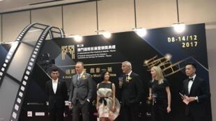 Júri do Festival internacional de cinema de Macau no encerramento do certame a 14 de Dezembro de 2017.