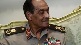 Le maréchal Hussein Tantaoui, au palais présidentiel. Le Caire, le 31 juillet 2012.