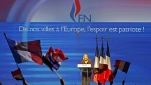 Marine Le Pen durante un mitin del FN en Marsella, el pasado 15 de septiembre.