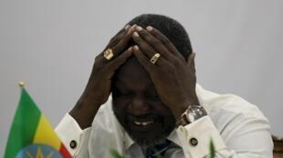 Kiongozi wa upinzani na aliye kuwa Makamu wa rais wa Sudan kusini Riek Machar, Julai 8, 2015.