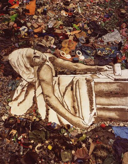 Obra de Vik Muniz, tema do documentário Lixo Extraordinário.