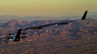 Lors d'un vol d'essai du drone Aquila, mis au point par la firme Facebook.