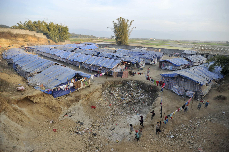 Camp de refugiés kachin en Chine.