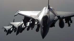 Rafale jets based in the United Arab Emirates, where French aerial war games are also undertaken.