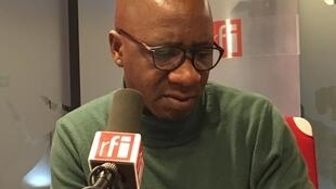 Wilfried N'Sondé, author of The Heart of the Leopard Children, speaking about his book at RFI in Paris