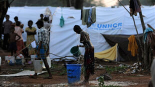 A UN-run refugee camp in Vavuniya district in the Tamil-majority north